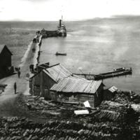 H. O. Rose Dock in Petoskey, 1874.